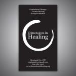 Dimensions In HealingBusiness Card Design