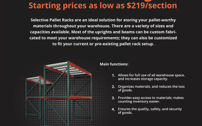 Quality Material Handling, Inc. - Pallet Racking Product Flyer