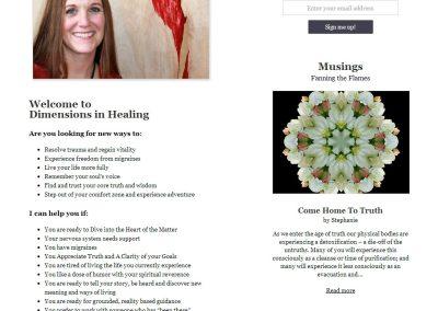 Dimensions In Healing | Website